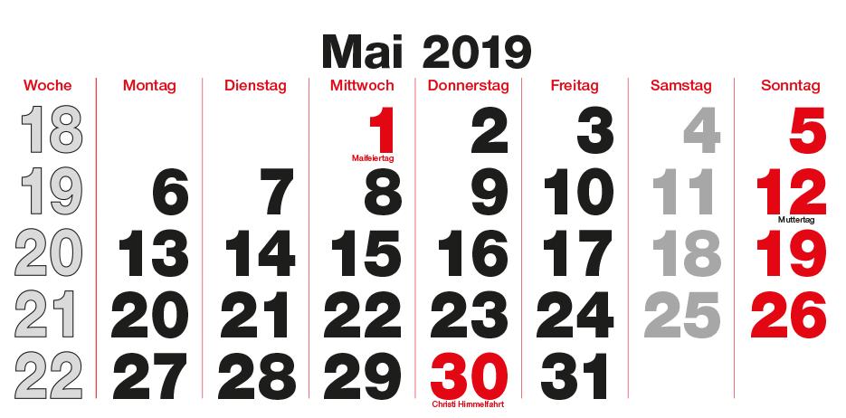 Monats-Wandkalender
